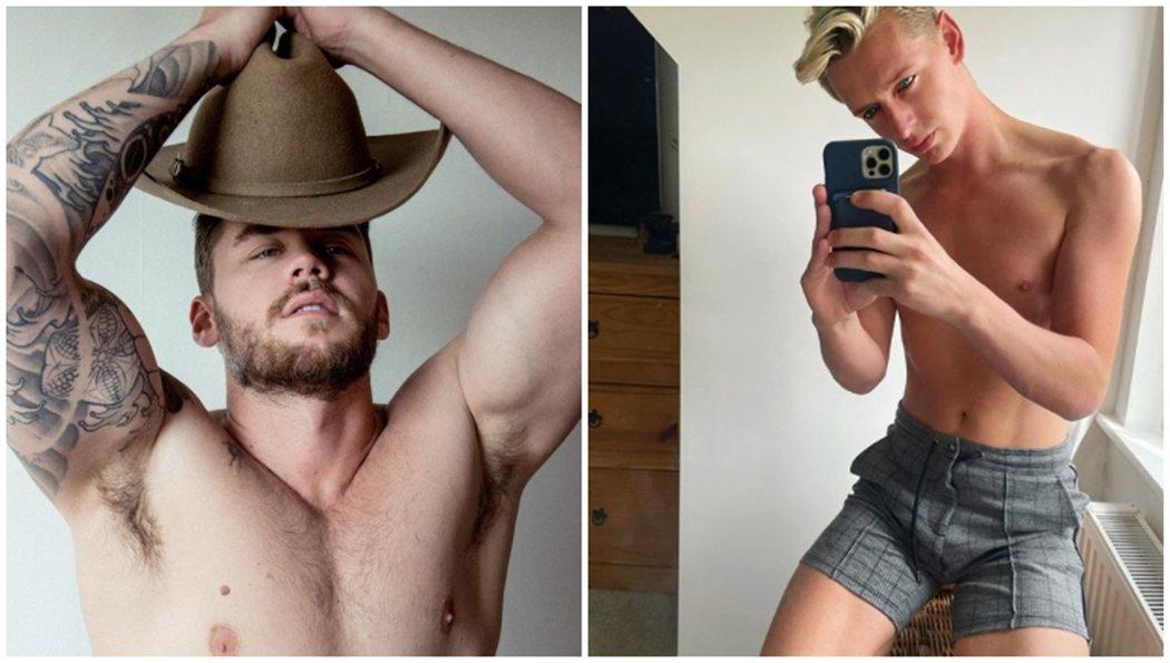 對男同志社群而言,Onlyfans也是常使用的情慾資源。左為男同志成人片演員Ma...