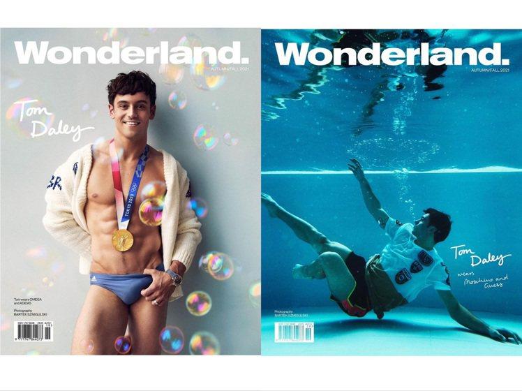 湯姆戴利登上《Wonderland》雜誌2021秋季號。圖/取自IG