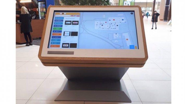 大型購物商場中的數位路線亭。 圖/3D wayfinder