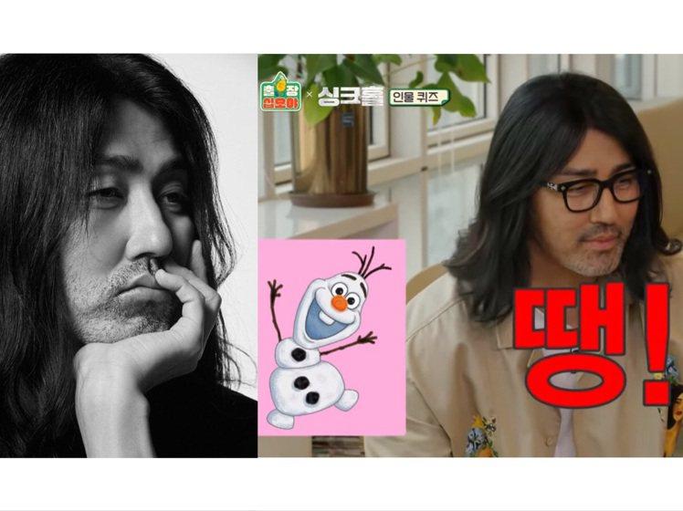 車勝元參加韓綜《出差15夜》,車勝元不知道《冰雪奇緣》雪寶是誰。圖/YG娛樂、截...