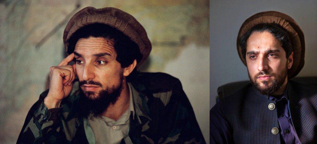 左為艾哈邁德.沙阿.馬蘇德(Ahmad Shah Massoud),右為艾哈邁德...