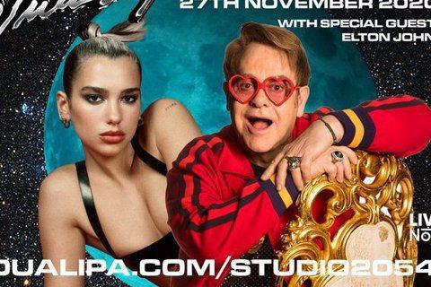 英國天后杜娃黎波(Dua Lipa)的直播演出「Studio 2054」宣傳照。...