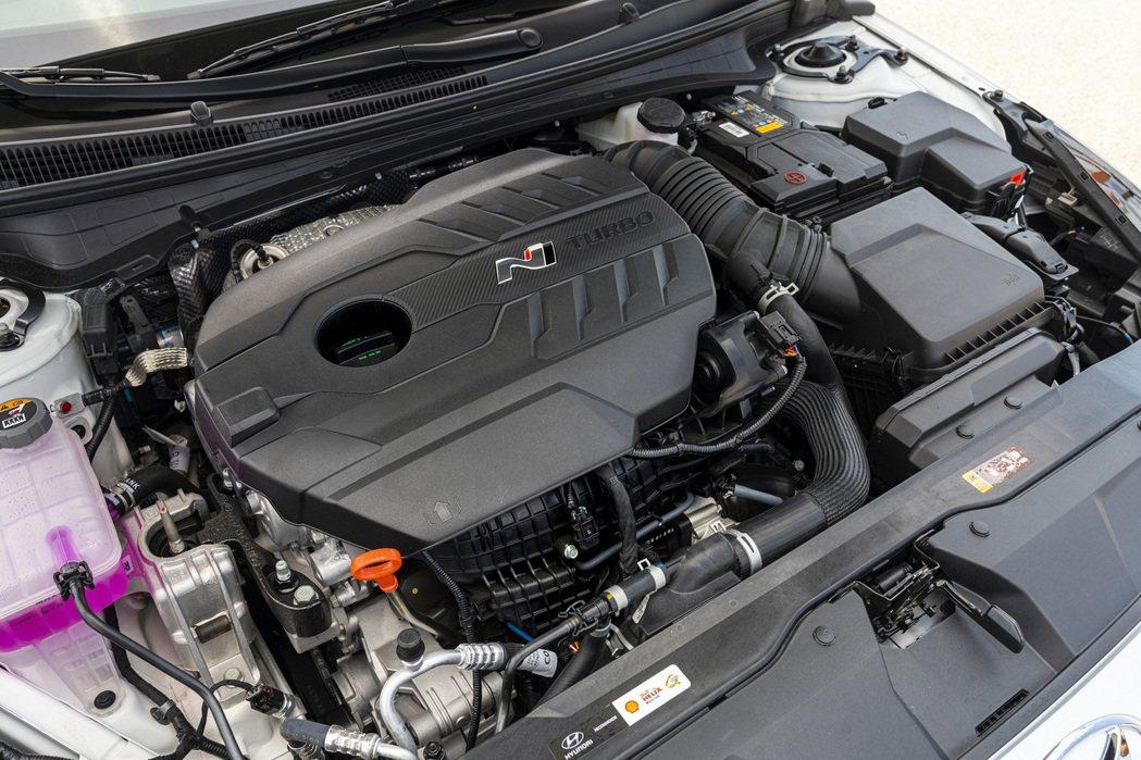 美規Hyundai Elantra N與韓版車型相同,皆是搭載2.0升T-GDi...
