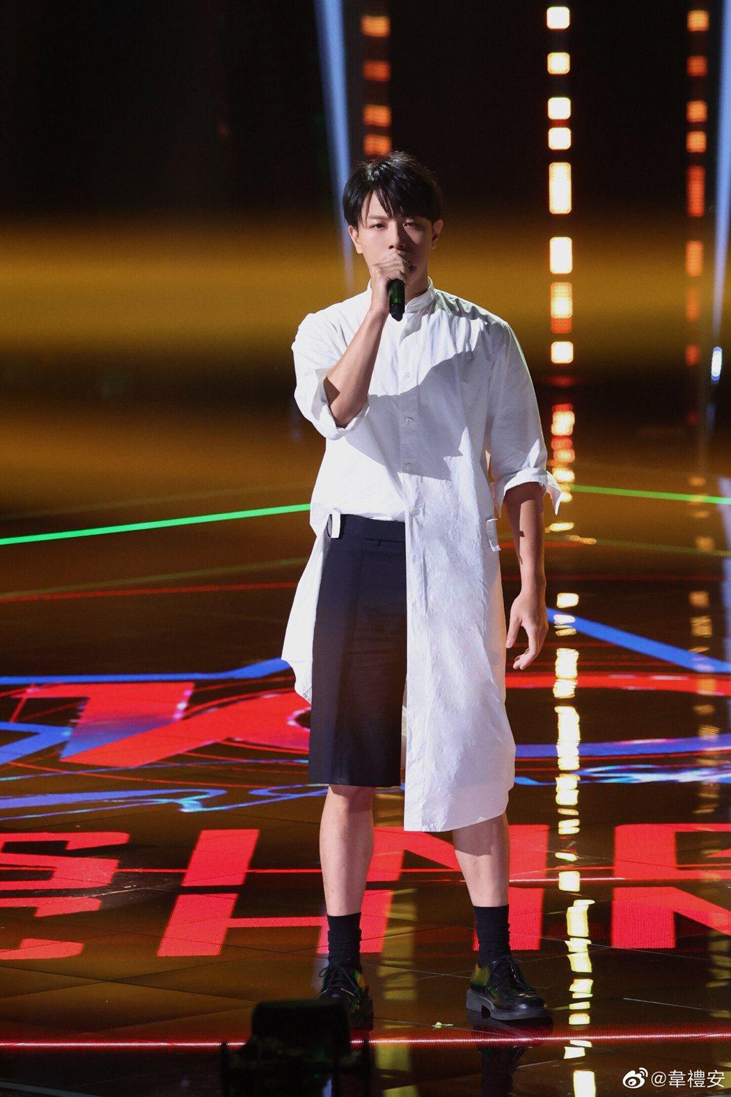 韋禮安參加《中國好聲音》。圖/擷自微博