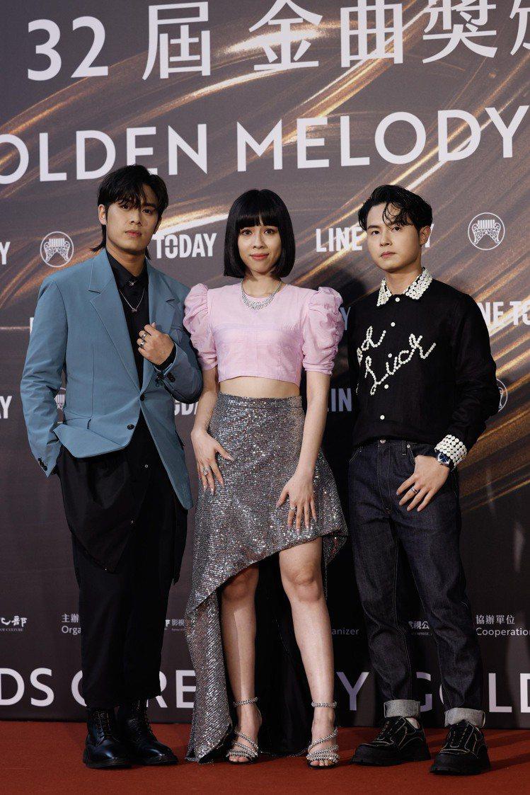 「告五人」潘雲安(左起)、犬青、林哲謙。記者李政龍/攝影