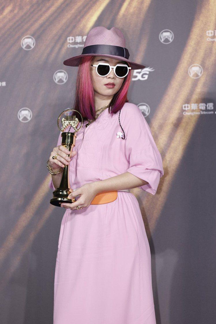第32屆金曲獎最佳新人獎由?te壞特獲得。記者李政龍/攝影