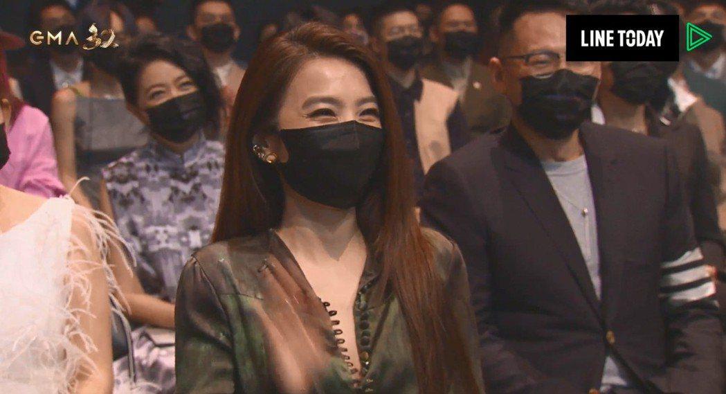 田馥甄出現在台下,讓網友直呼驚喜。圖/翻攝自LINE TV、台視
