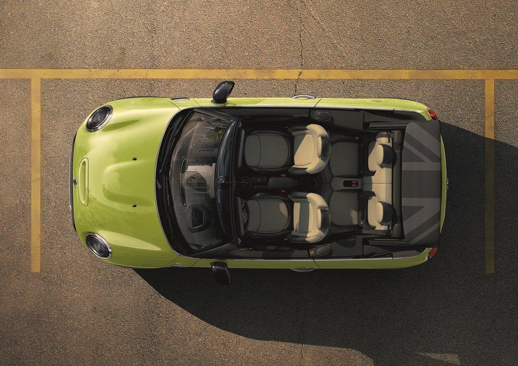 MINI Cabrio專屬新色Zesty Yellow。 圖/汎德提供