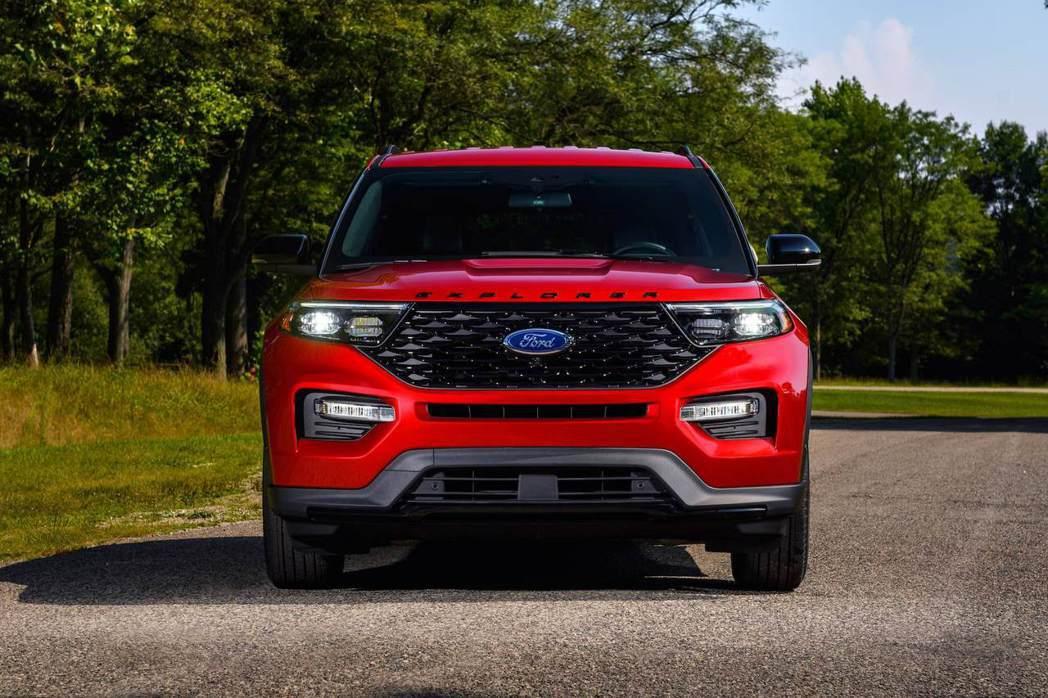 美規2022年式Ford Explorer新增ST-Line車型。 圖/Ford...
