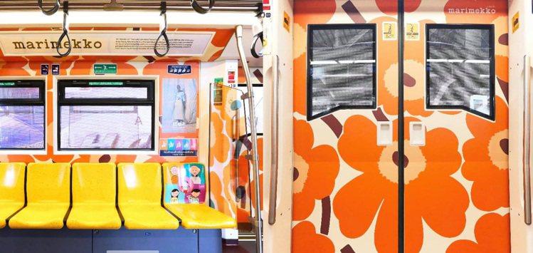 芬蘭國寶品牌Marimekko與曼谷BTS空鐵,進行一連串合作活動,其中就包括了...