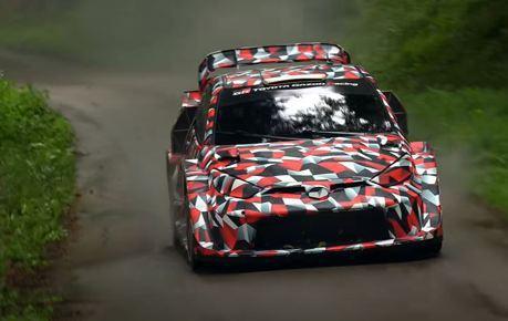 影/2022賽季WRC油電化 Toyota Yaris WRC Hybrid賽車激駕測試中!