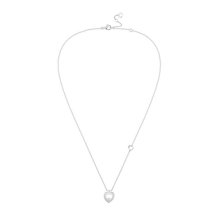 PRETTY WOMAN Fine Jewellery 18K白金鑽石迷你款項鍊...
