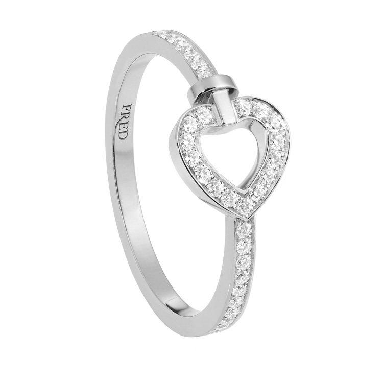 PRETTY WOMAN Fine Jewellery 18K白金全鋪鑽迷你款戒...
