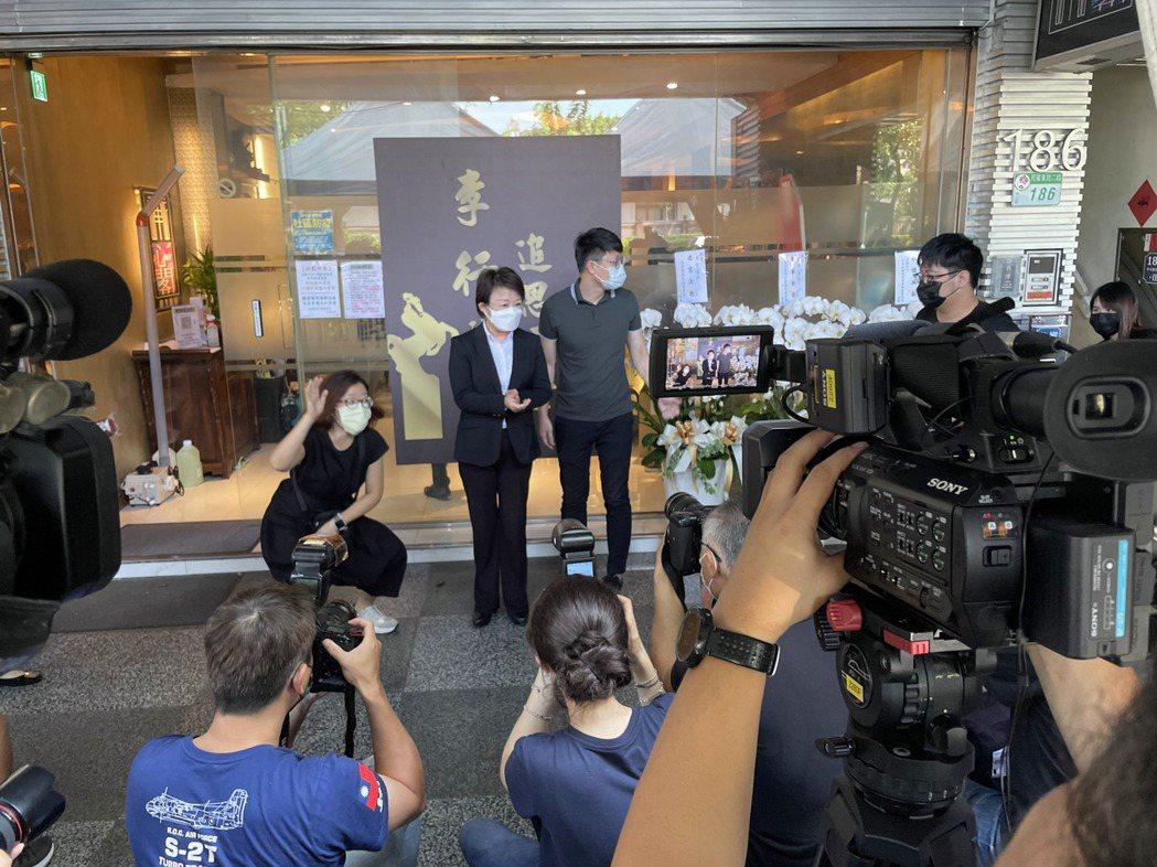 台中市長盧秀燕來致意。記者蘇詠智/攝影