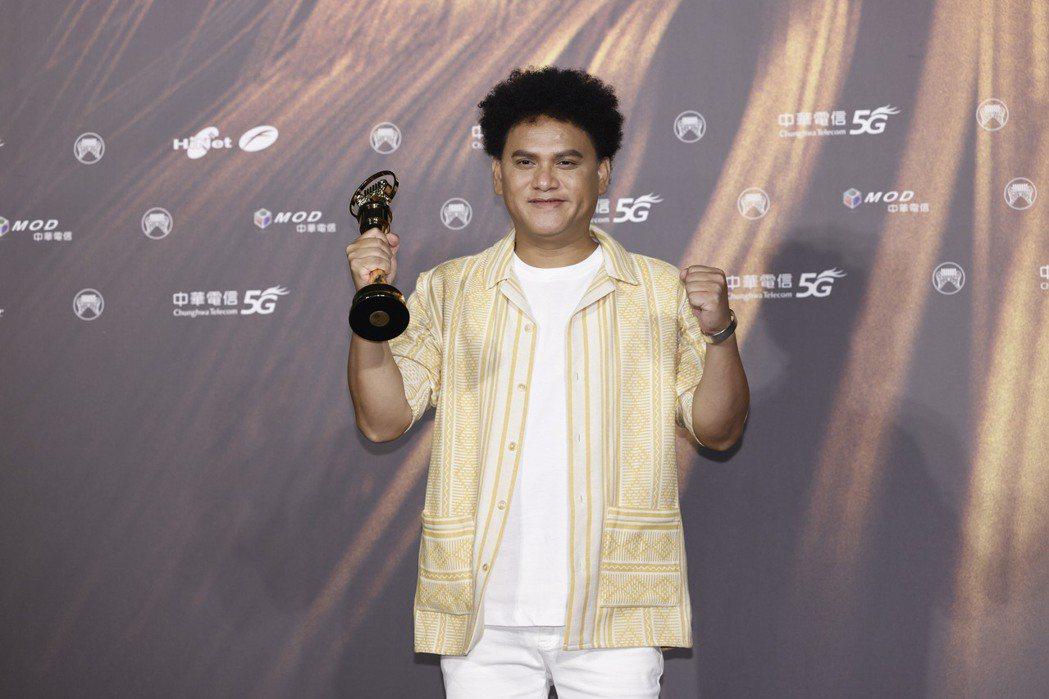 桑布伊拿下第32屆金曲獎年度專輯與最佳原住民語歌手獎。記者李政龍/攝影