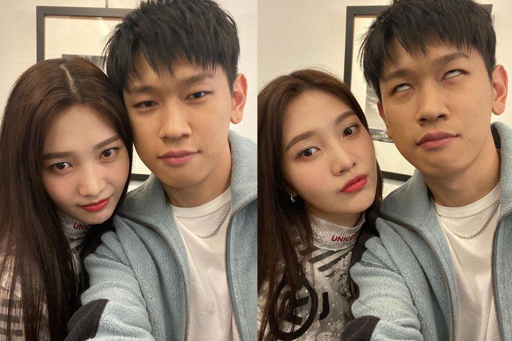 Red Velvet Joy爆熱戀大5歲男歌手Crush。圖/摘自instagr...