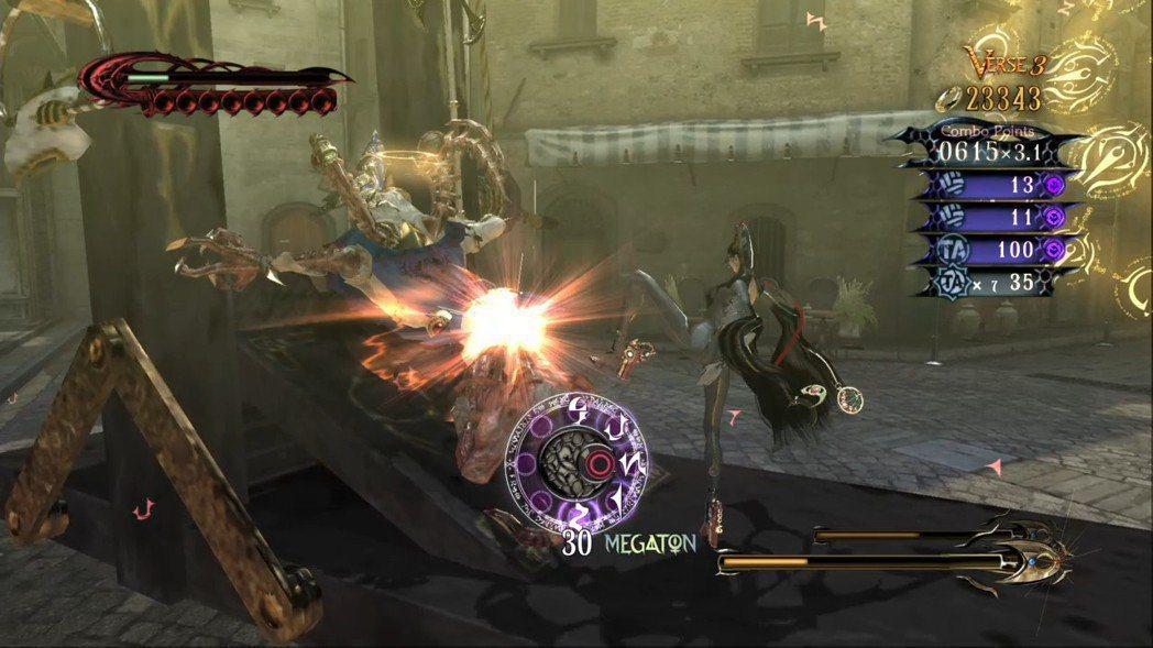 雖然魔兵驚天錄玩法很類似惡魔獵人,但各種演出有著較華麗的提升,也更加誇張。