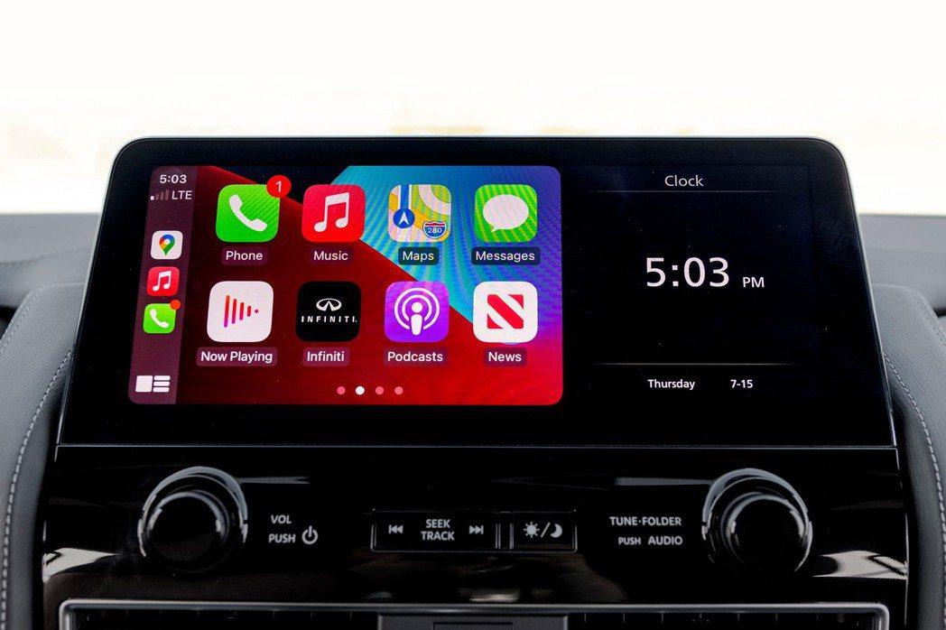 可連接無線Apple CarPlay和有線的Android Auto。 摘自In...