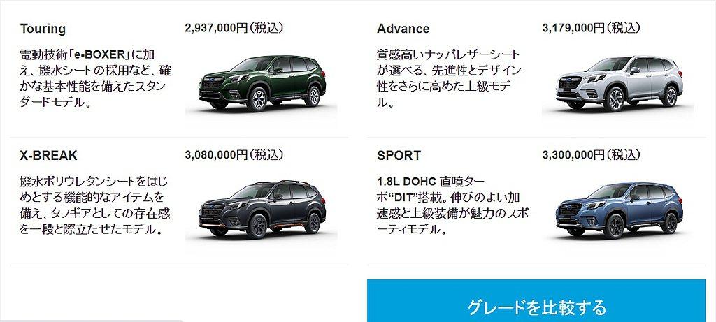 小改款日規Subaru Forester提供2.0L e-BOXER、1.8T ...