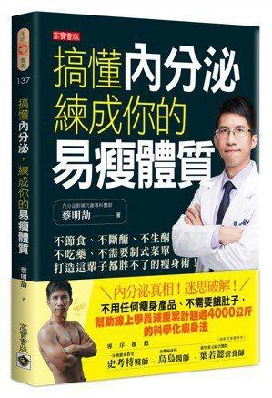 書名:《搞懂內分泌,練成你的易瘦體質》 作者:蔡明劼 出版社:高寶書版 出...