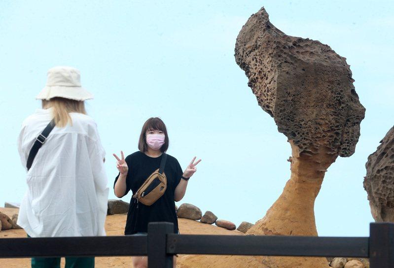 「女王頭」是野柳地質公園知名度高的奇景。圖/聯合報系資料照片