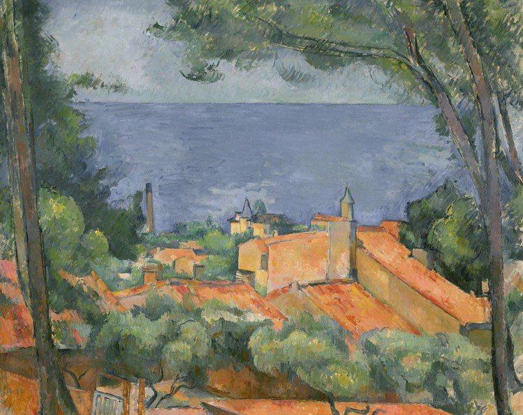 保羅塞尚「埃斯塔克的紅屋頂」,約1883至1885年作,估價3,500萬美元起。...