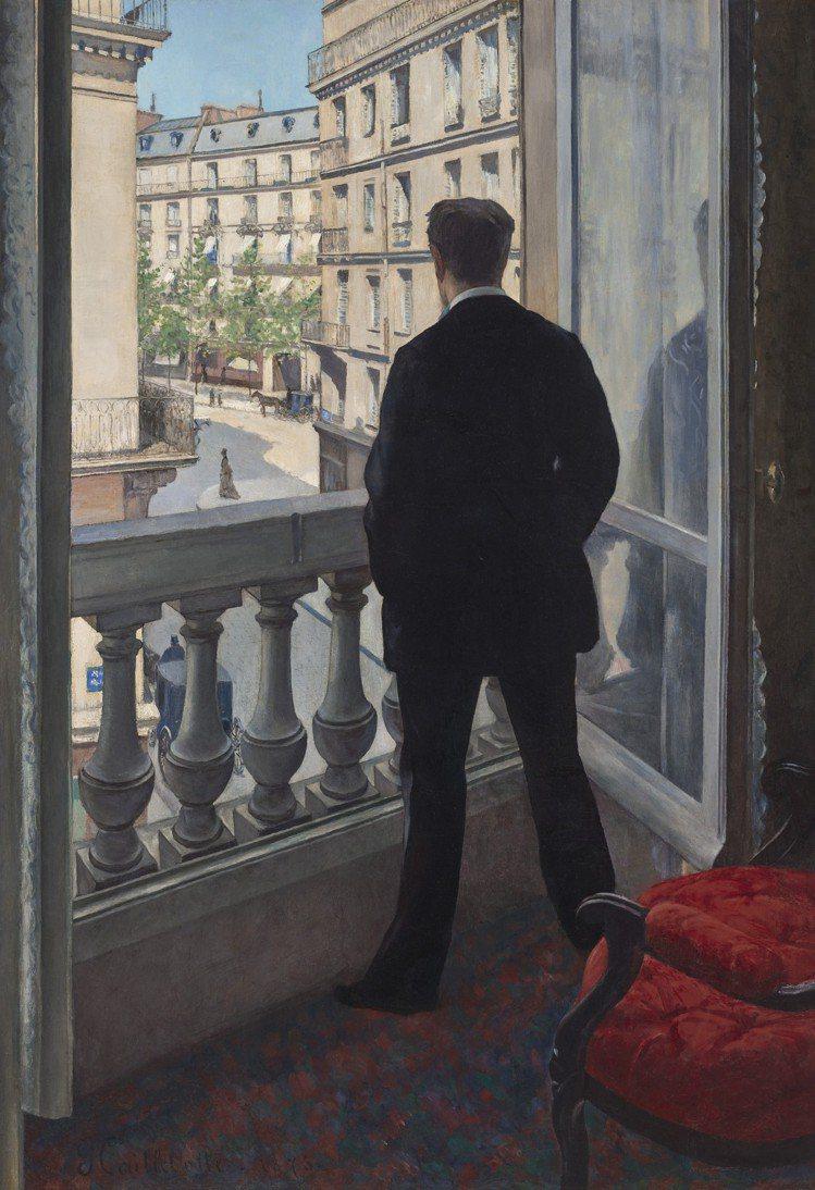 古斯塔夫卡耶博特「窗邊的年輕男人」,1876年作,估價超逾5,000萬美元。圖/...