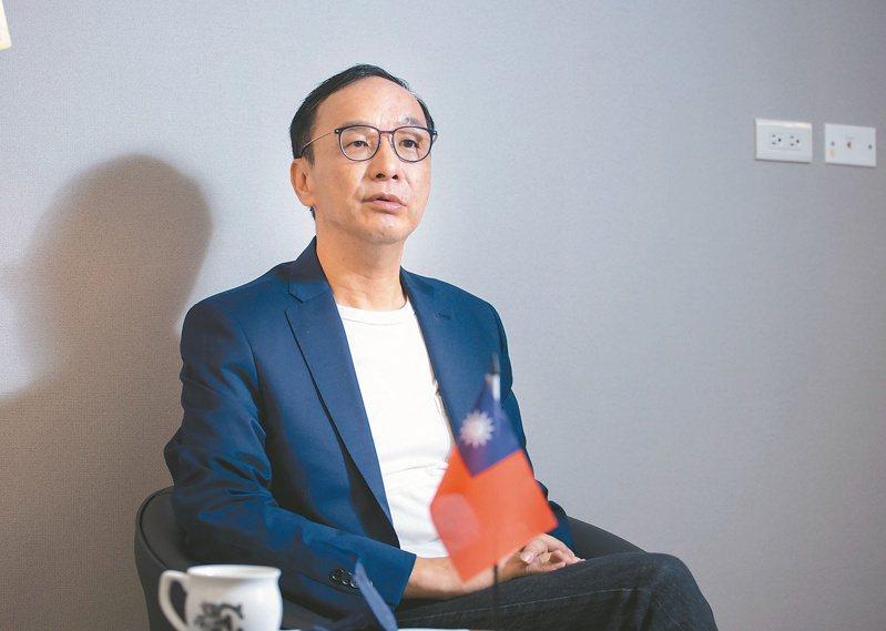 朱立倫對中華民國、對國民黨的論述,能否堅持下去,驗證朱立倫改變自己人設能否成功的關鍵因素。記者曾原信/攝影