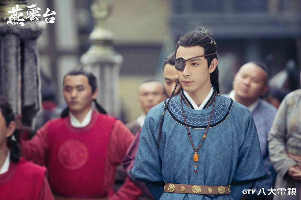 連晨翔在「燕雲台」劇中飾演的皇子「耶律只沒」命運坎坷。圖/八大電視提供