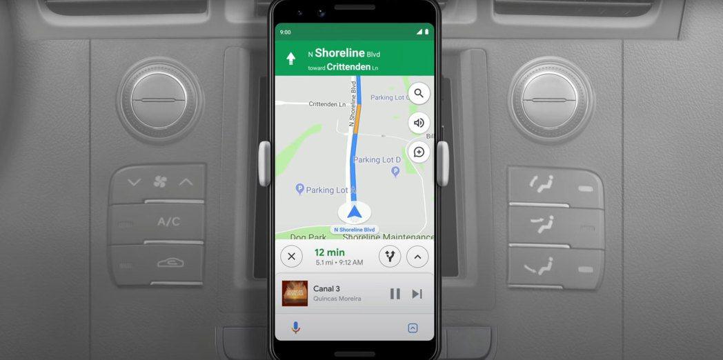 全新的Google Assistant driving mode。 摘自Cars...