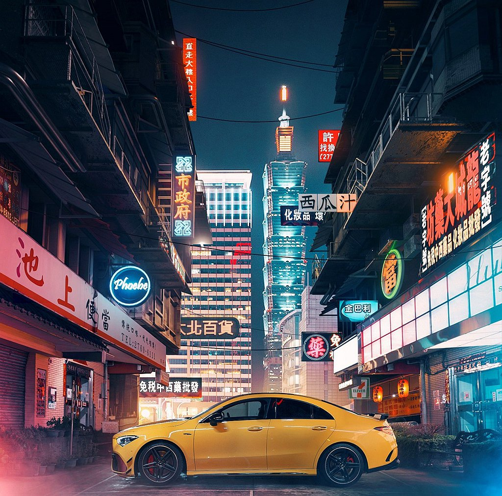 Mercedes-AMG CLA黯夜版全新形象照,延續上市以來「各自表帥」的賽博...
