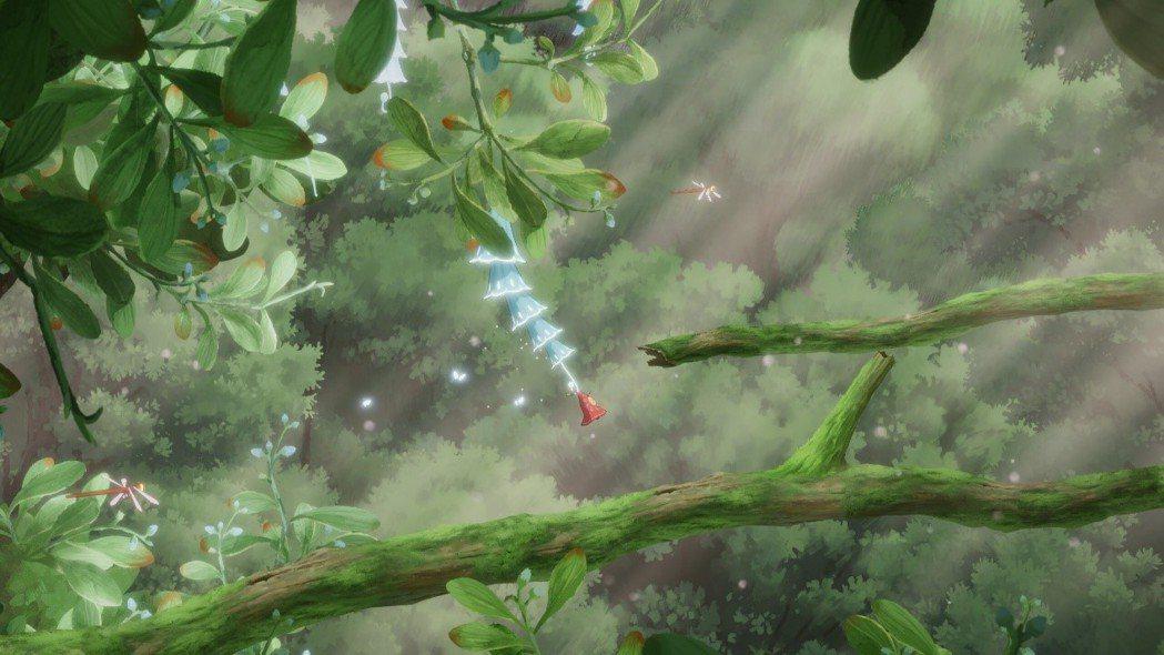 遊戲在平台跳躍的部分都蠻容易的,只有掛花瓣跳躍時稍微要點技巧