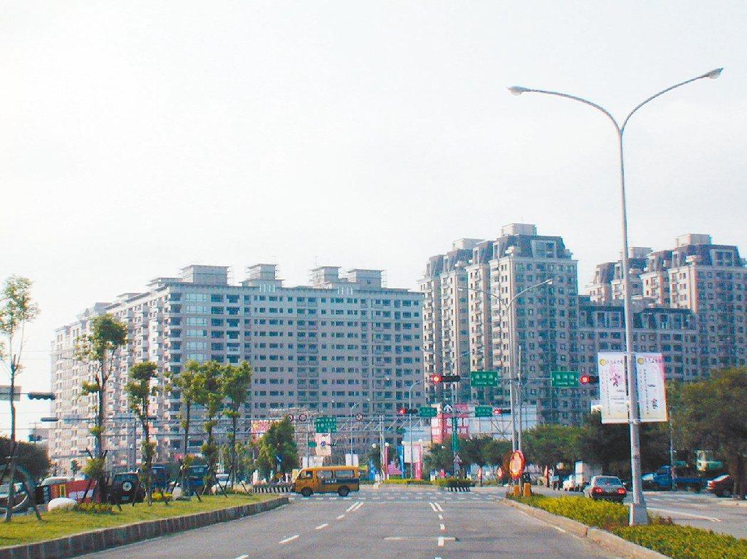 新竹縣竹北房地產因高鐵利多,一片蓬勃,不過,空屋率偏高。圖/報系資料照