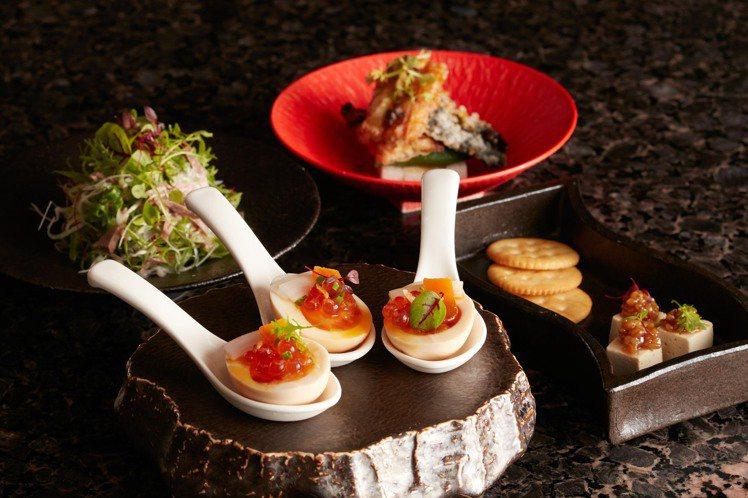 新菜包括有奶油起司風味鴨肝豆腐、烏魚子糖心蛋等菜色。圖/乾杯提供
