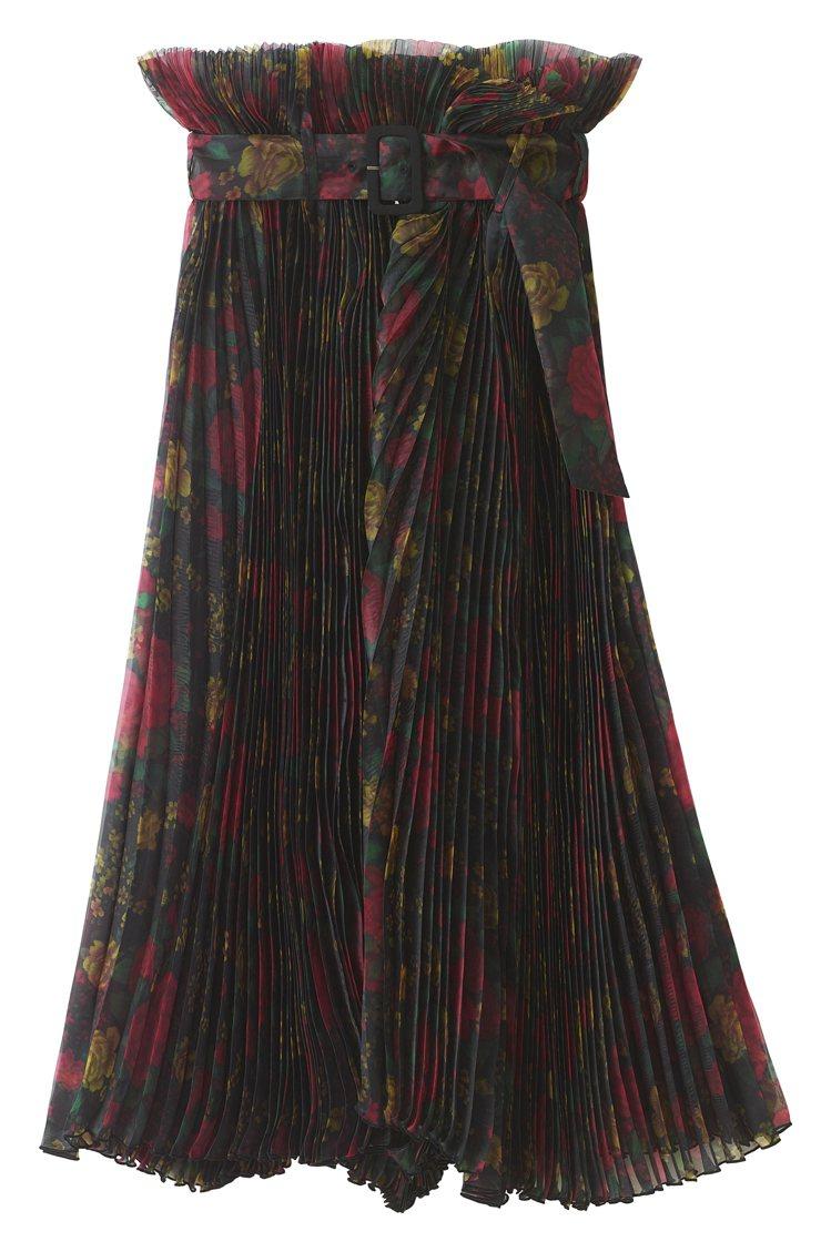 H&M聯名Toga Archives系列印花長裙3,499元。圖/H&a...