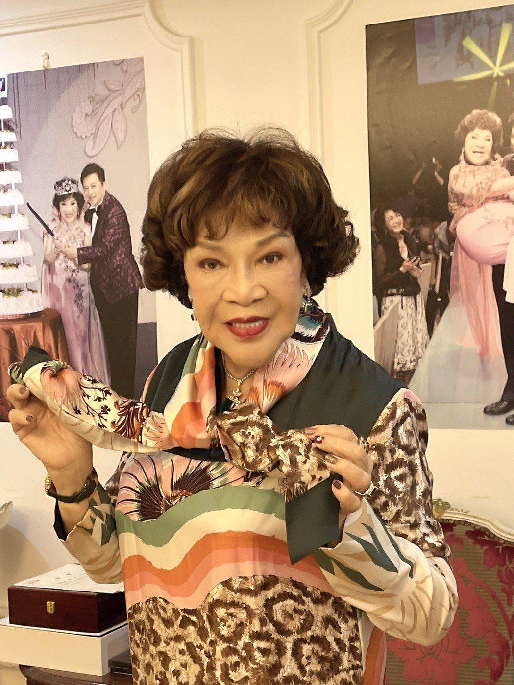 阿姑周遊今天歡度84歲生日。圖/周遊提供