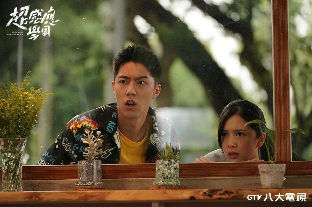 蔡凡熙(左)、劉奕兒搭檔演出「超感應學園」。圖/八大電視提供