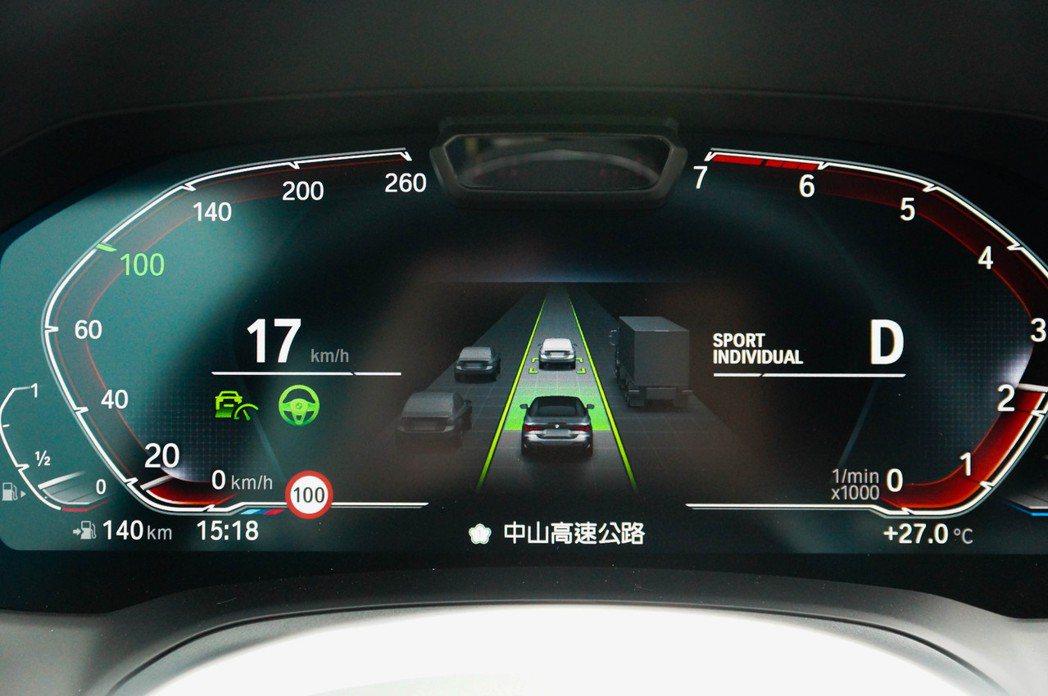 道路虛擬實境顯示功能打配具Level 2等級的ADAS系統,用起來十分清晰明瞭。...