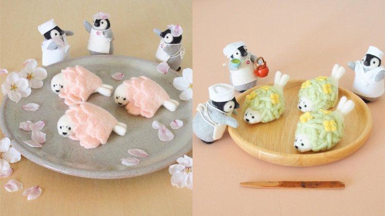 trois M將小海豹變成和菓子的夾餡,並推出具有季節感的櫻花系列。圖/取自IG...