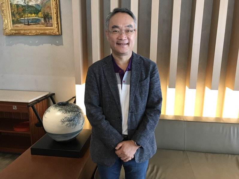 明基材董事長陳建志。 聯合報系資料照