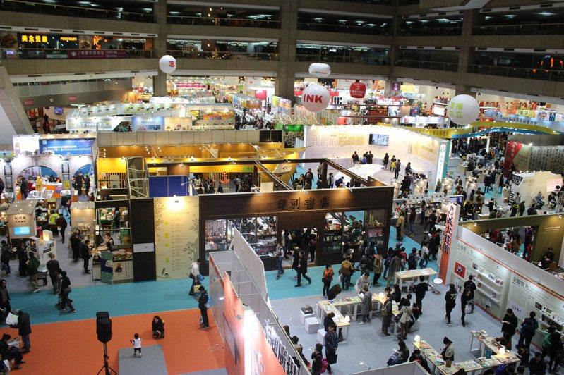 台北國際書展已有兩年停辦實體書展。記者陳宛茜/攝影