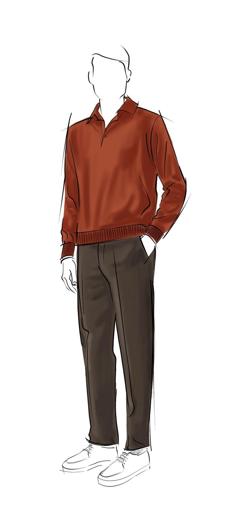 在較為溫暖的賽季初期以經典Kummel長袖棉質Polo上衣將搭配剪裁經典和細節考...