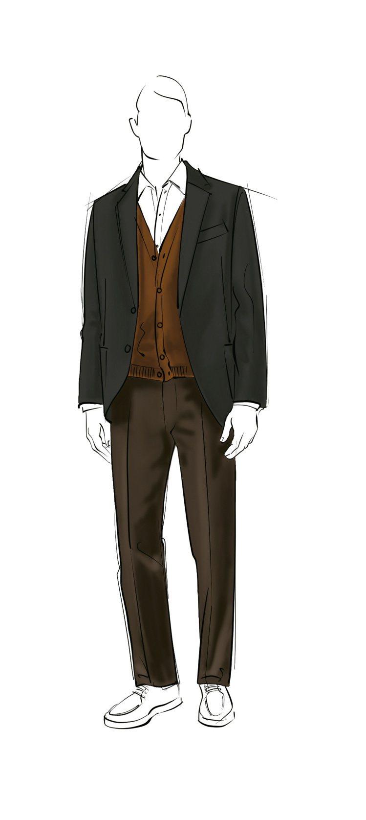 秋、冬之際則用經典代表作的André棉質襯衫取代Polo衫,搭配Wish®超細纖...