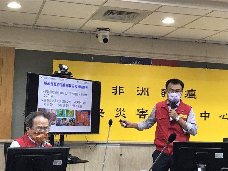 農委會主委陳吉仲(右)。記者吳姿賢/攝影