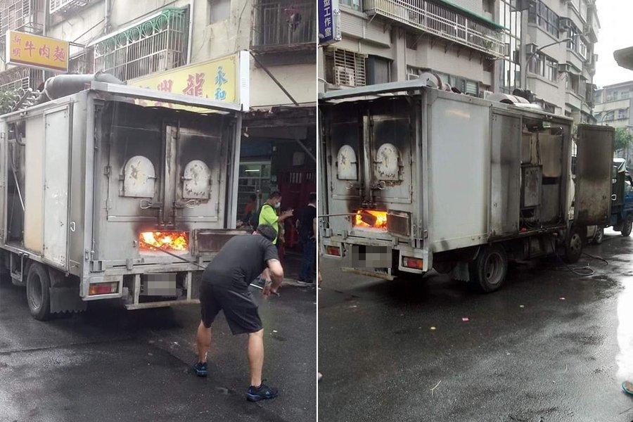 網友在路上看到行動金爐車,大開眼界。 圖/翻攝自爆料公社公開版