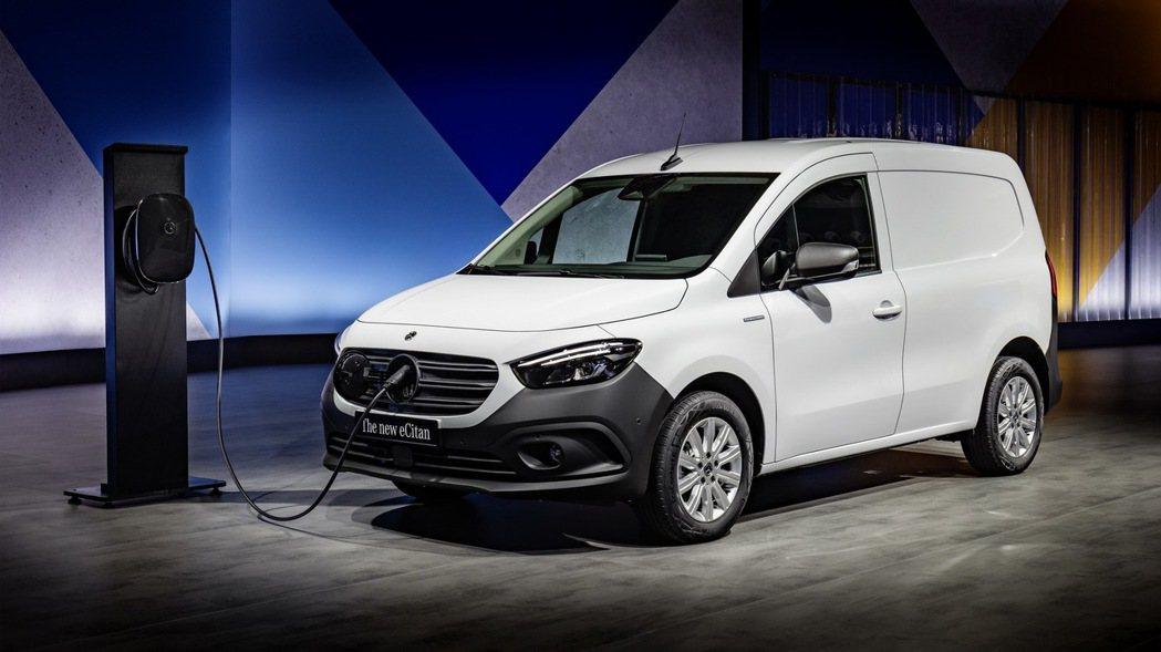 電動版的eCitan車型,將於2022年下半年推出。 圖/Mercedes-Be...
