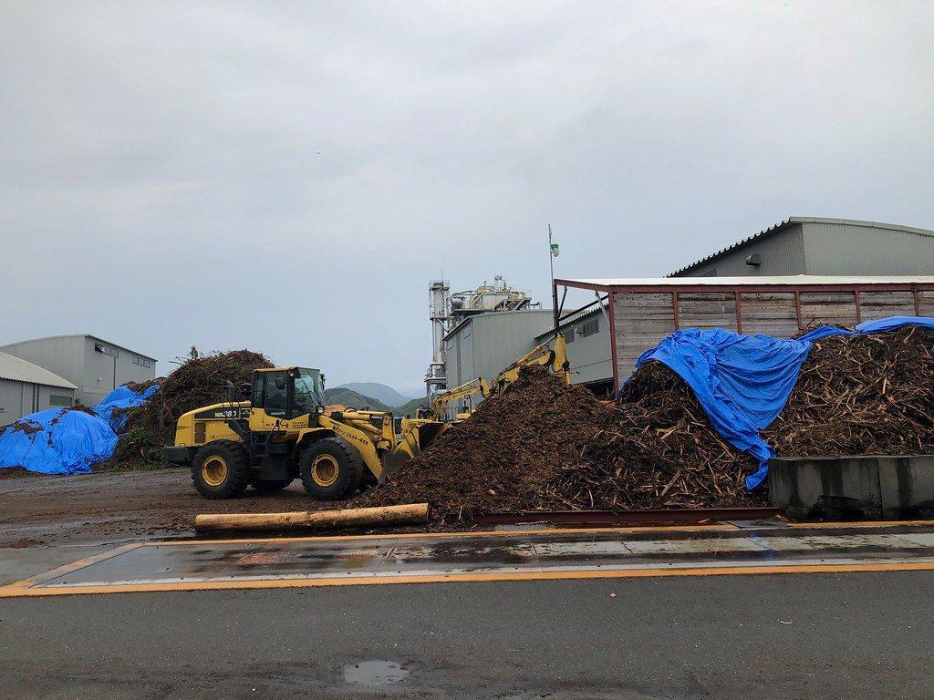 日本生質能源發電廠入荷處。 圖/劉建志攝影