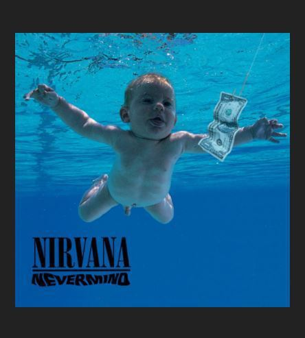 超脫樂團在1991年出版專輯〈Nevermind〉的封面照。圖擷自Nirvana