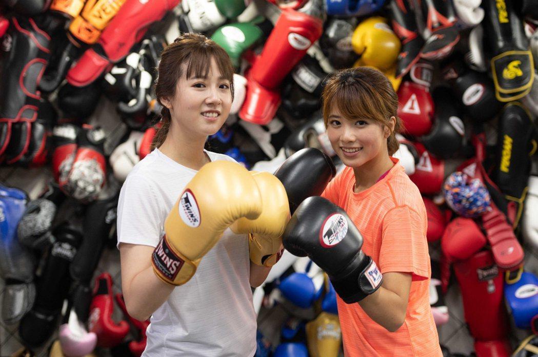 方志友(左)和王上菲打拳打出好感情。圖/TVBS提供