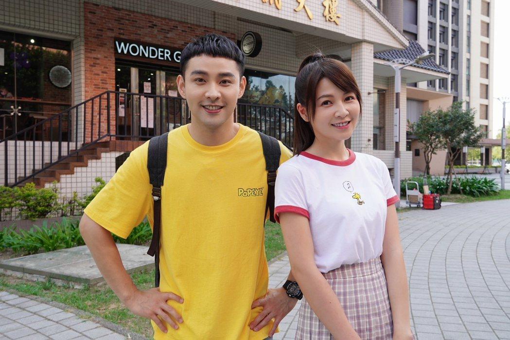 謝京穎(右)、潘柏希在「黃金歲月」中的校園戲。圖/民視提供
